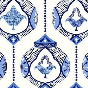 *NEW* Moroccan lamps/blue white/medium scale