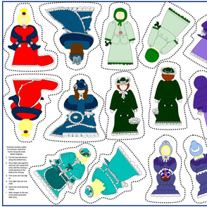 Victorian Faceless Cut and Sew Doll Ornaments Group