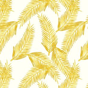 Yellow Palm Cluster Pattern