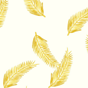 Yellow Palm Pattern