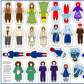 Dollie Storage Room Cut and Sew Doll Ornaments Group