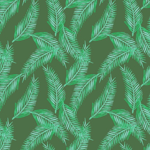 Green Palm Cluster Pattern