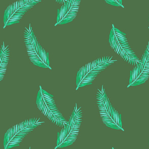 Green Palm Pattern