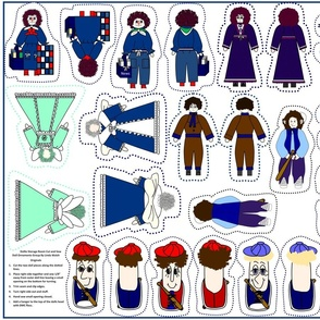 Dollie Storage Room Cut and Sew Doll Ornaments Group2