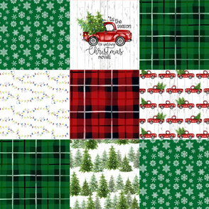 Christmas//Tis the Season - Wholecloth Cheater Quilt