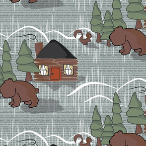 Bears In the Woods - large scale