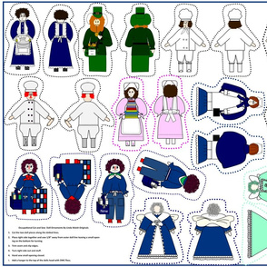Occupational Cut and Sew Dolls Group