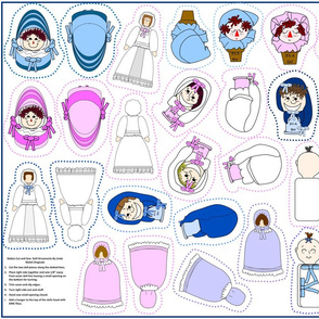 Babies Cut and Sew Doll Ornaments Group3