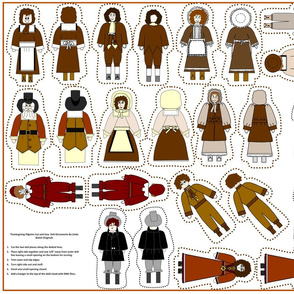 Thanksgiving Cut and Sew Dolls Group