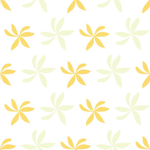 Two Tone Yellow Pinwheel flower