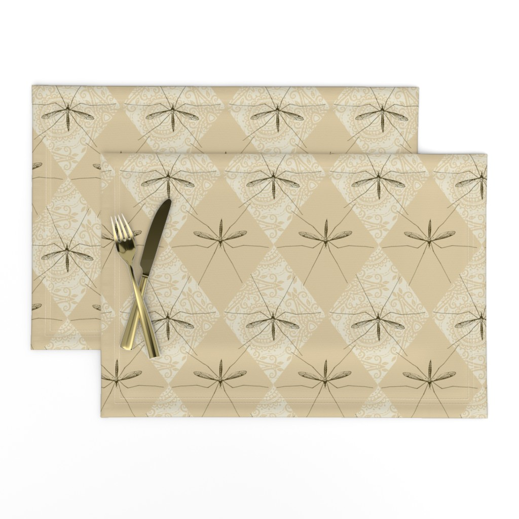 Lamona Cloth Placemats featuring Tipula by siya