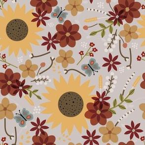 Farmhouse Chic: Multicolor Sunflower Floral