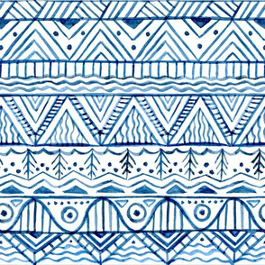 Scandinavian watercolor blue