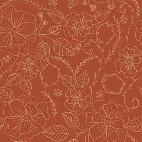 Farmhouse Chic: Orange Floral