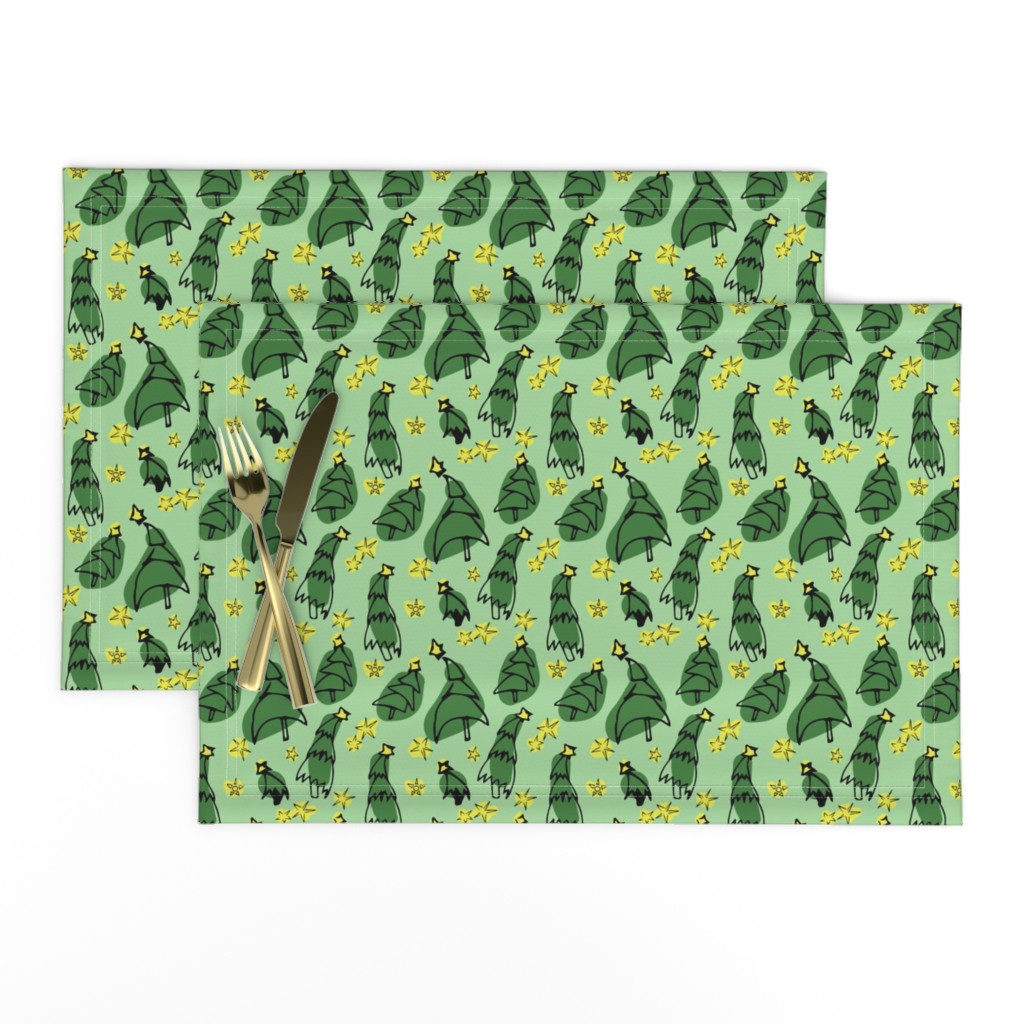 Lamona Cloth Placemats featuring Stars among the trees by megmarchiando