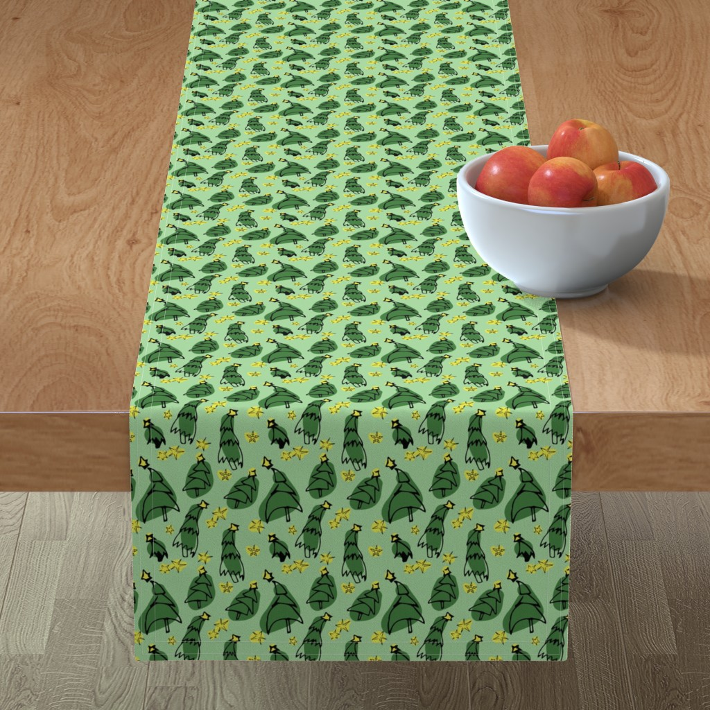 Minorca Table Runner featuring Stars among the trees by megmarchiando