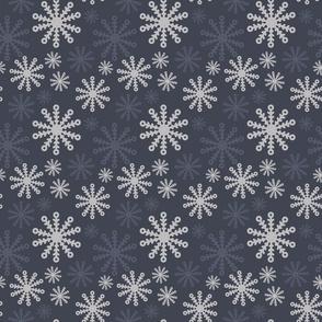 Grey Snowflake Pattern