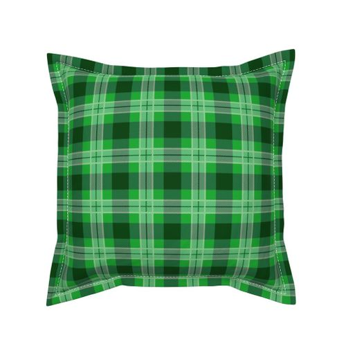 Colorful Fabrics Digitally Printed By Spoonflower Christmas Holly Green And Dark Green Plaid Tartan With Wide White Lines