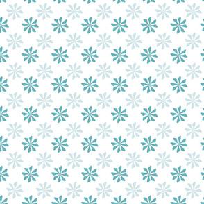 simple teal geometric flower