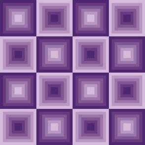 Modern, geometric, purple, maya temple