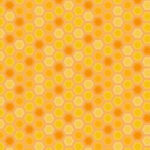 Abstract sunny honeycomb