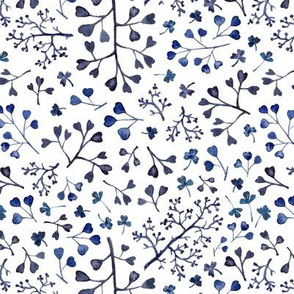 blue twigs and branches