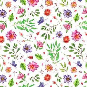 watercolor boho floral