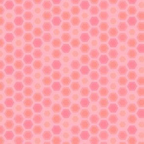 Honeycomb abstract pink