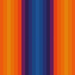 Stripes, multi colour, orange, purple, blue, Relax Night and Day