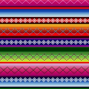 Serape Neon Mexican blanket Stripe