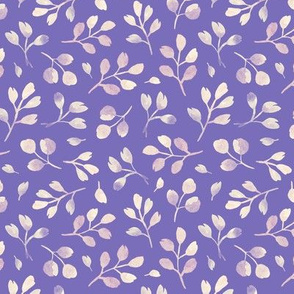 tender leaves on a purple background