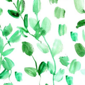 Watercolor parsley • larger scale