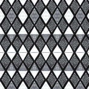 Large Scale Diamond H White+Black-large