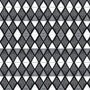 Diamond H White+Black-medium scale