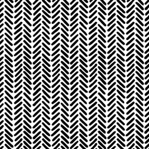 Herringbone black and white painterly