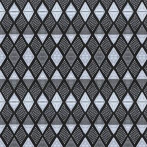 Diamond O Black+White-medium scale