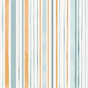 Summer sunset / Watercolor stripes large scale