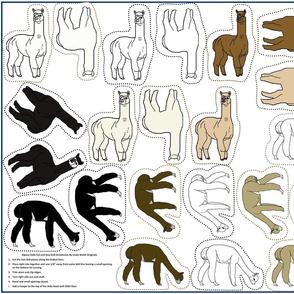 Alpaca Doll Ornaments Cut and Sew Group