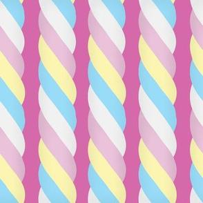 Marshmallow Twist - Vertical, pink