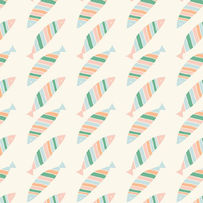 Colorful striped fish pattern