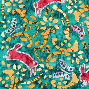 Vernal- Spring Batik Tie Dye- Large Scale
