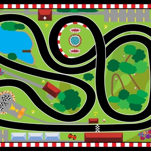 Racetrack Minky Playmat - Buy Full Yard on Minky Only
