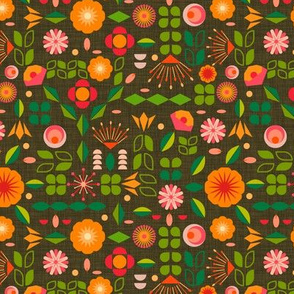 Verdure- Mod Scandi Florals- Small Scale