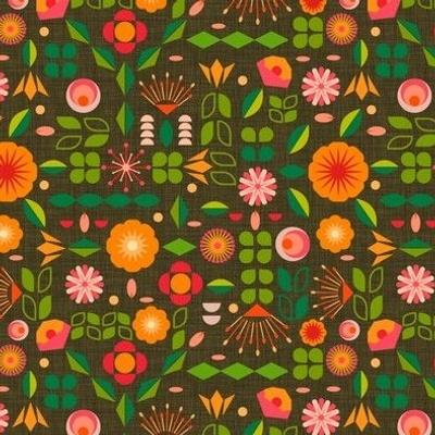 Verdure- Mod Scandi Florals- Small Scale