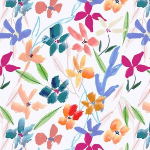 Abstract Handpainted Expressive Floral