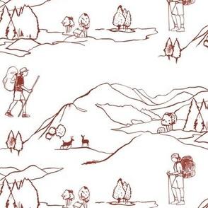 Hiking Maroon