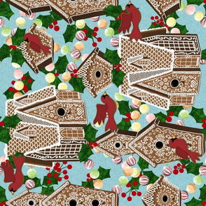 Gingerbread Birdhouses - Horizontal