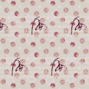 stamped pattern/blush