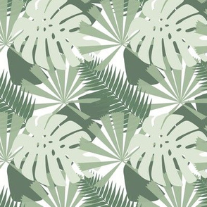 Tropical Multi Leaf_Greens