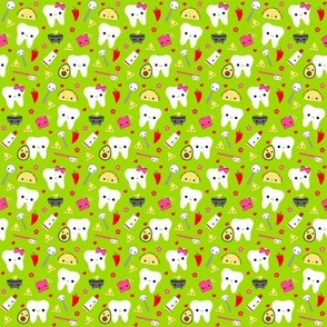 SMALL Happy Taco Teeth - Green